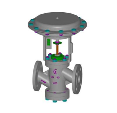 CONFLOW – valvole serie 5000 a comando pneumatico per intercettazione e regolazione vapore a norme ansi