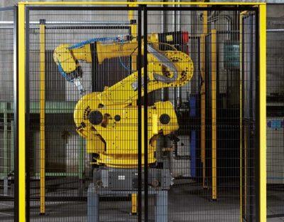 Protezioni antinfortunistiche metalliche per automazioni